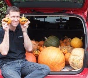 Ian Cross with Mr Fothergill's Pumpkins