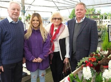 Gary Tiley (right) with his family who have decided to sell Reigate Garden Centre after 35 years