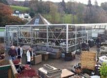 Hayes Garden World's temporary structure