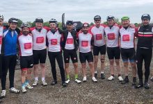 Team Tong at the end of the Tour de Yorkshire ride